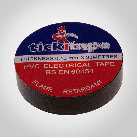 PVC Tickitape 33m x 19mm Svart