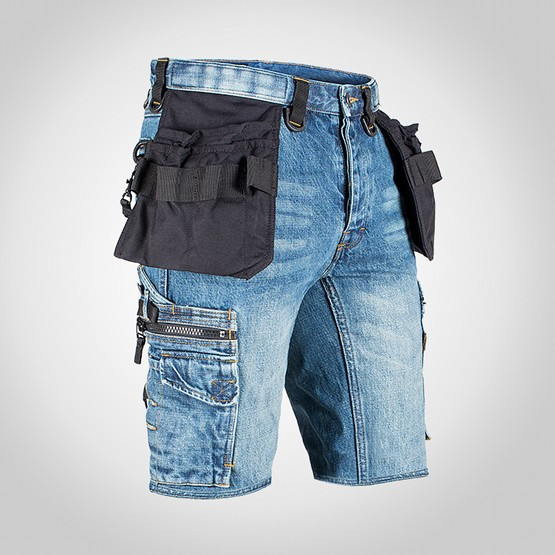 Shorts Dunderdon P55s Denim stentvättade 2