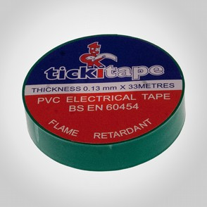 PVC Tickitape 33m x 19mm Grön